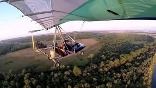 Полёт на ЧЕТЫРЁХМЕСТНОМ дельталёте ЖУК - 44