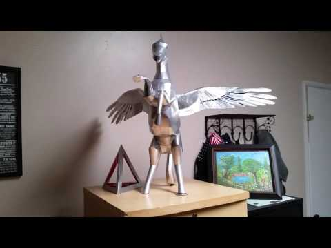 Pegasus made with soda cans