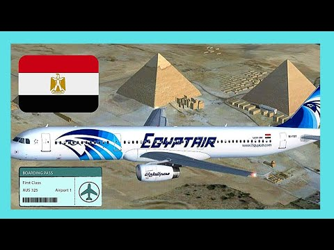 MY EgyptAir FLIGHT From ATHENS (Greece)  To CAIRO (Egypt), Great Aerial Views ✈️