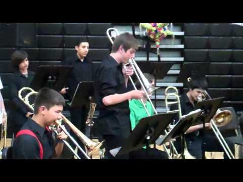Andy's trombone solo - Rancho Minerva Middle School Jazz Band