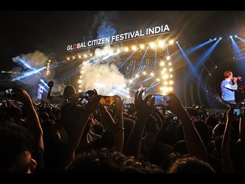 COLDPLAY *india* full concert LIVE global citizen festival india 'part 1'