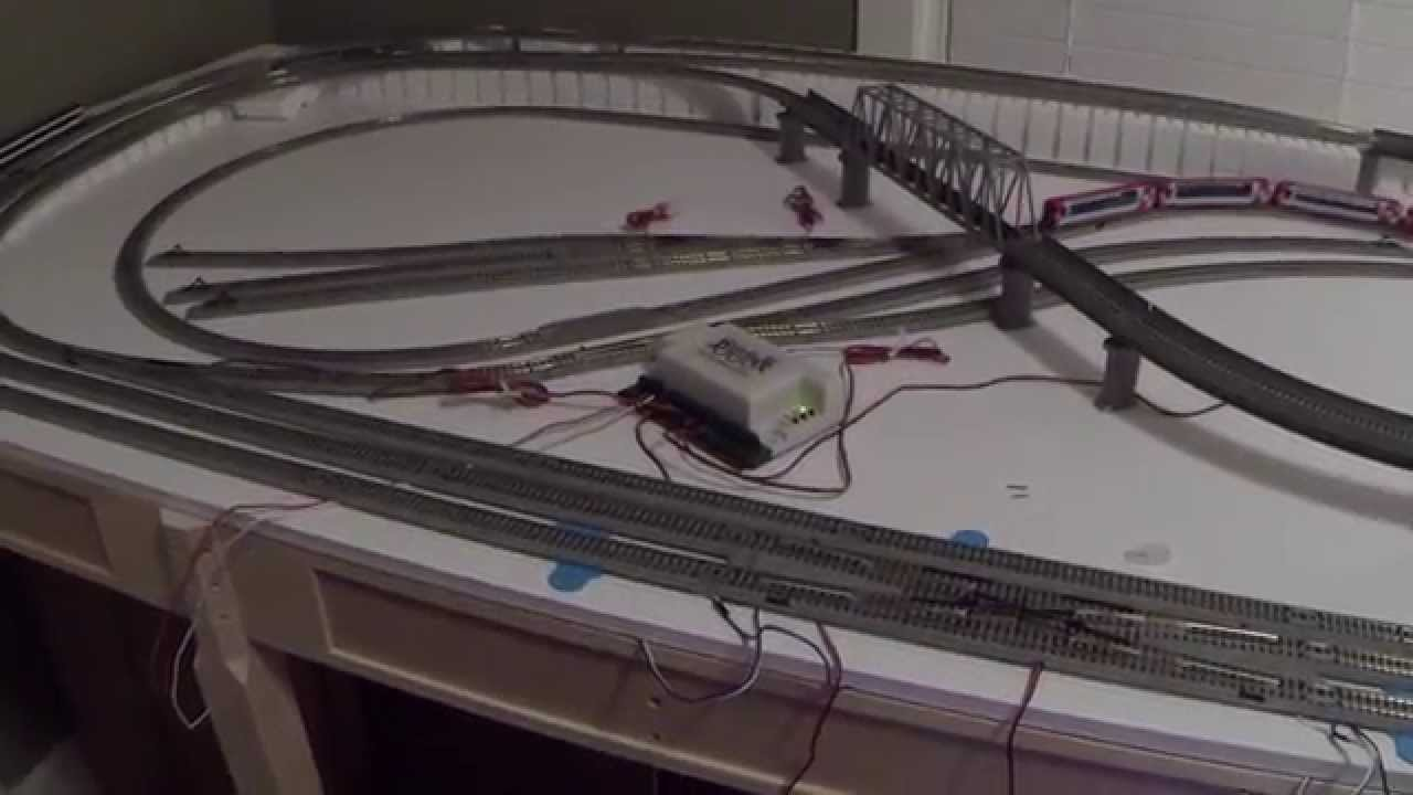 kato unitrack dcc wiring for small layout n scale part ii youtube rh youtube com Kato Unitrack Kato HO Train Track