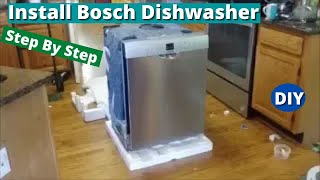 how to install Bosch Dishwasher - Step By Step  - DIY