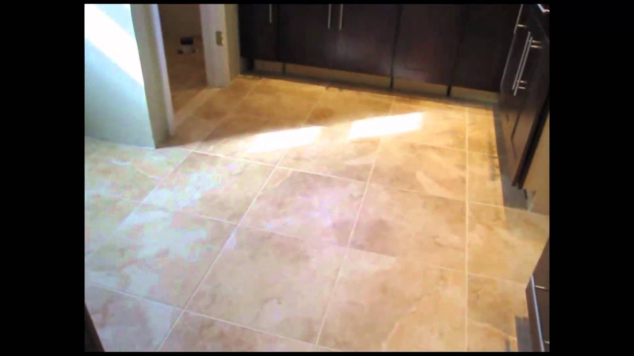 Large Floor Tiles For Kitchen Porcelain Tile Kitchen Floor Youtube