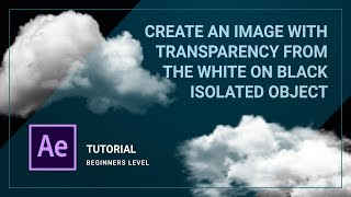 Sie schaffen Transparenz für das weiße Objekt isoliert auf schwarzem hintergrund. After Effects tutorial