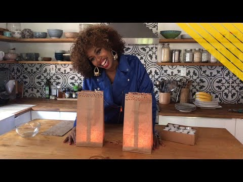 Dollar Store DIY: Lunch Bag Lanterns - GloZell xoxo