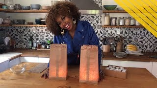 Dollar Store DIY: Lunch Bag Lanterns - GloZell xoxo