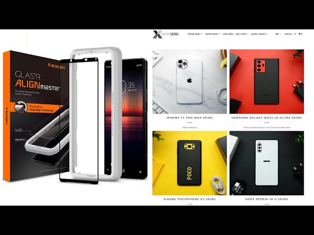 Sony Xperia 5 II Protection. Xtreme Skins voucher code,  Spigen Stocking filler