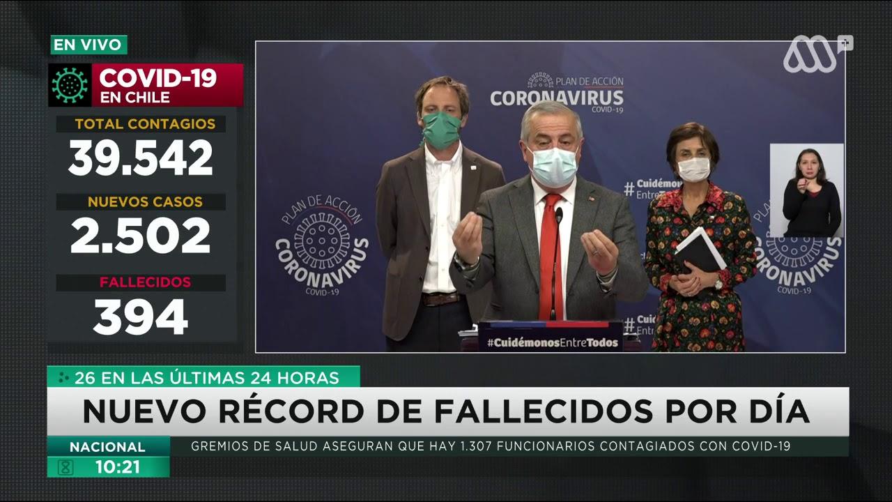 Coronavirus Chile | Cifra récord de fallecidos en 24 horas y casi ...