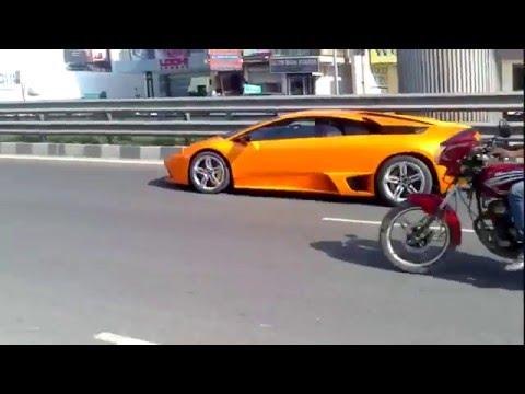 Yuvraj Singh In His Lamborghini Murcielago In Delhi Youtube