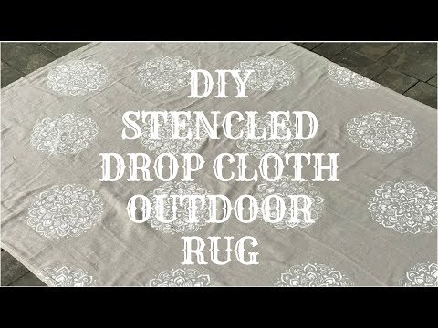 DIY OUTDOOR STENCILED DROP CLOTH RUG
