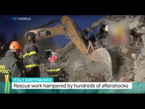 Italy Earthquake: Rescue work hampered by hundreds of aftershocks, Sarah Morice reports