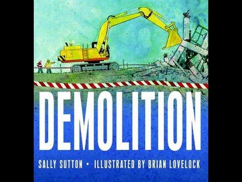 Demolition Read Along Aloud Story Book for Children Kids