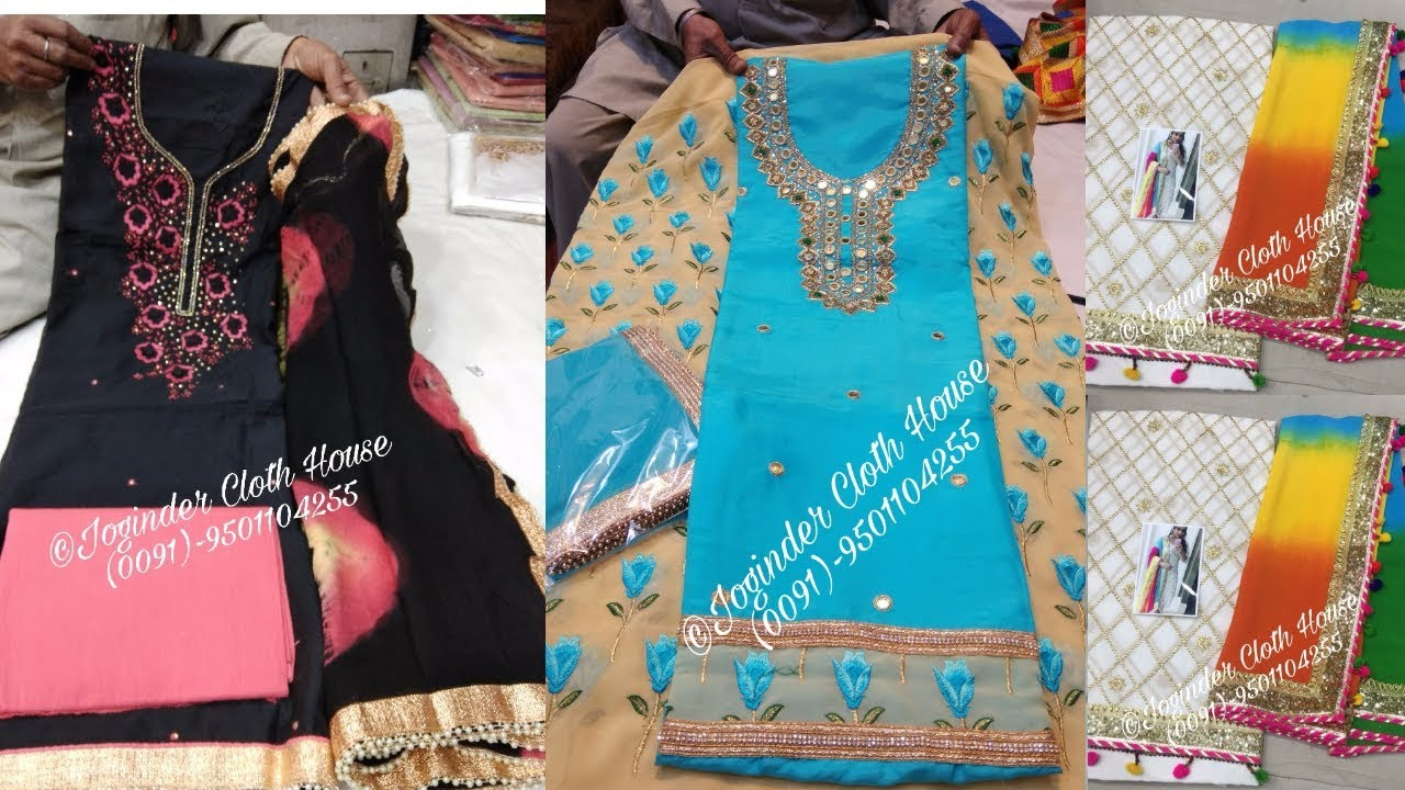 Latest Designer Suits With Pure Dupatta Joginder Cloth House & Latest Designer Suits With Pure Dupatta Joginder Cloth House - YouTube