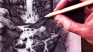 How to Draw a Waterfall and Stream