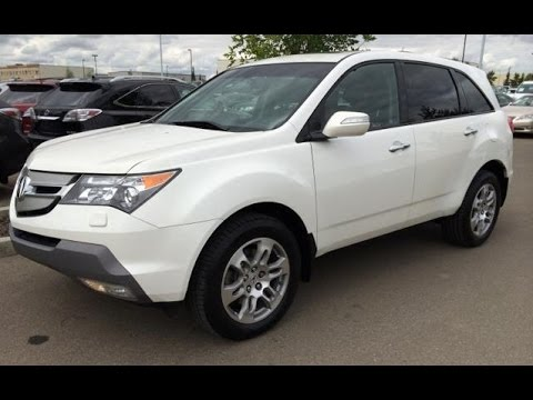 Pre Owned White 2009 Acura Mdx Awd Tech Pkg Review Fort Saskatchewan Alberta You