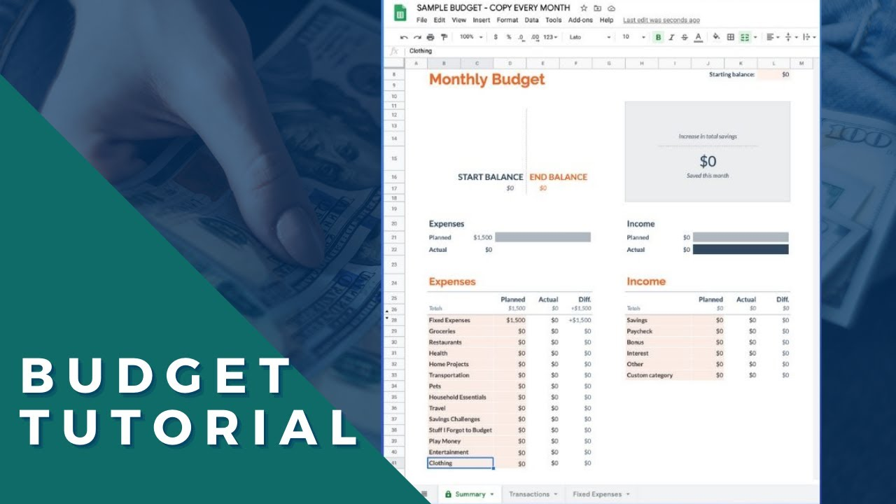 How to use the Google Sheets budget template (Free spreadsheet
