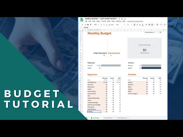 Budget Template Free | How To Use The Google Sheets Budget Template Free Spreadsheet