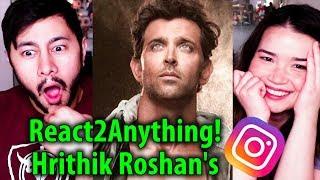 React2Anything: Hrithik Roshan's Instagram!