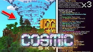 *NEW* LOOTBOX & HAUNTED MAZE REALM! | COSMIC SKY S4 #4 (Minecraft SKYBLOCK)