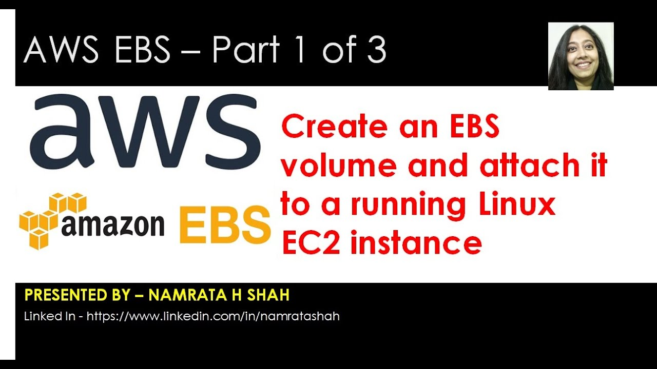 AWS EBS 1of 3 - Create an EBS volume and attach it to a running Linux EC2  instance