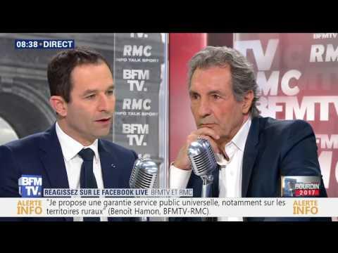 Benoît Hamon face à Jean Jacques Bourdin, 3 mars 2017