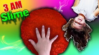 How To Make Slime At 3AM Challenge! So Scary! Do Not Make Fluffy Slime At 3AM!