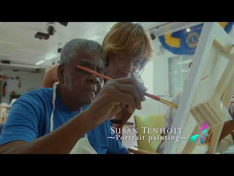 Saba LIFE Center & Benevolent Foundation: Portrait Painting with Susan Tenholt 2018