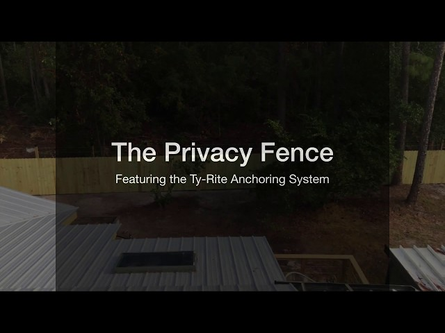 Ty-Rite Anchoring System - Privacy Fence