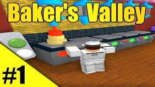 BAKING A MASSIVE CAKE! - Bakers Valley Ep1 - ROBLOX