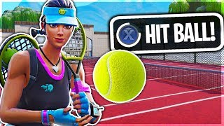 TENNIS SKIN Can PLAY TENNIS in Fortnite Battle Royale!