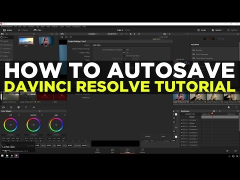 How To Enable Autosave In Davinci Resolve- Davinci Resolve Quick Tip