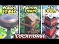 """""""Dance on top of a Water Tower, Ranger Tower, Air Traffic Control Tower"""" ALL 3 LOCATIONS! Fortnite"""