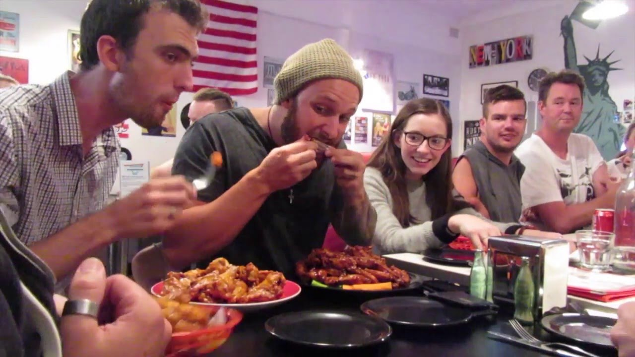 Download EATING COMPETITION - CHICKEN WING CHALLENGE