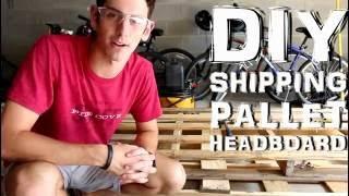 DIY Shipping Pallet Headboard