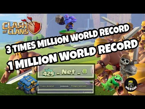 1 MILLION DONATIONS 3RD TIME | WORLD RECORD  | CLASH OF CLANS | NET