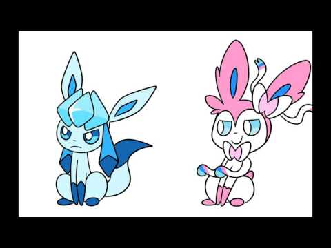 glaceon and sylveon but little