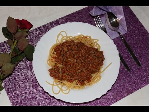 Рецепт Спагетти или паста с соусом болоньезе