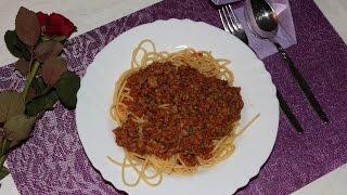 Спагетти или паста с соусом болоньезе