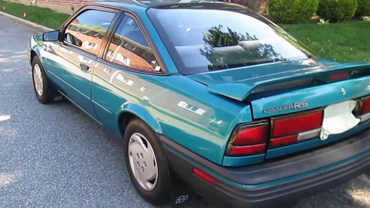 Cavalier 1992 chevrolet cavalier z24 : 1994 Chevrolet Cavalier Waxed with Meguiar's Ultimate Wax - YouTube
