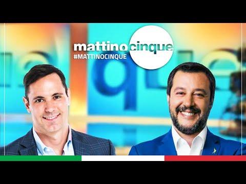 MATTEO SALVINI A MATTINO CINQUE (CANALE 5, 23.09.2020)