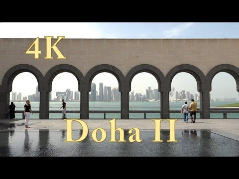 Doha II Katar (Qatar). One Evening in Doha city. Video 4k ultra hd (2/2).