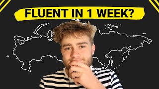 I tried to leąrn Russian in 7 Days