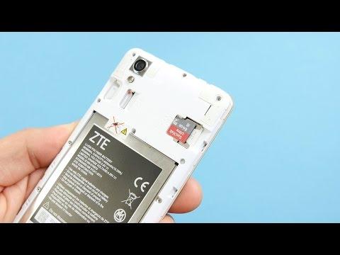ZTE Blade A452: microSD-Karte und Dual-SIM einlegen | deutsch