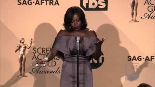 Viola Davis wins SAG and expresses frustration w/ diversity question