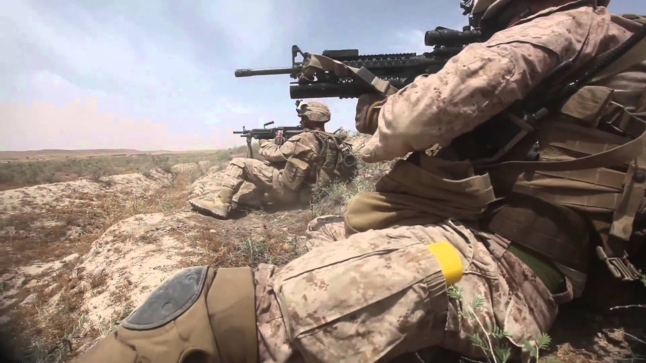 u s marines contact on patrol in kajaki afghanistan youtube