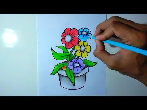 Gambar Flora Cara Menggambar Flora Youtube