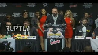 LIVE: Canelo and Rocky hold last presser before WBA middleweight title fight