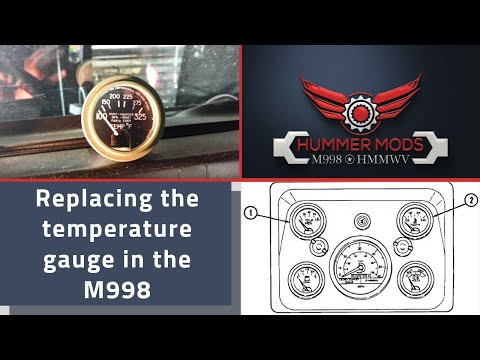 military hmmwv m998 temperature temp gauge bezel cluster replacement rh youtube com M151 Wiring-Diagram M998 Wiring-Diagram