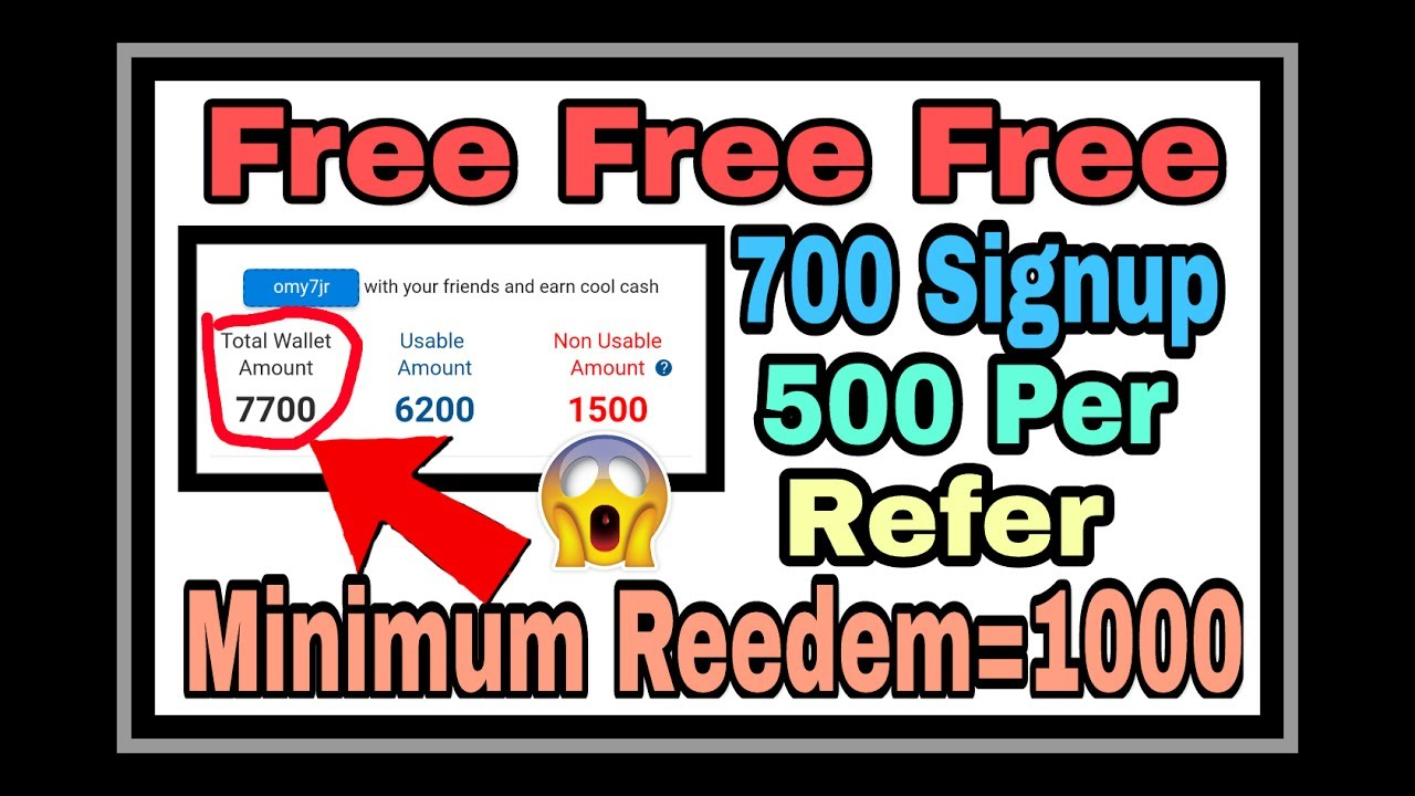 Big Big Loot:- 700rs on signup and 500rs per refer with ...